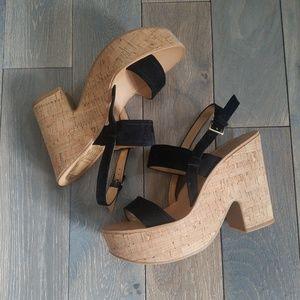 Dolce Vita Randi Cork Platform Heels